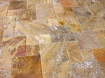 Scabos Travertine Versailles Ashlar Pattern Tiles Unfilled
