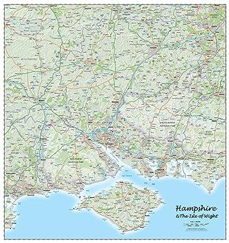 Map Of Uk Hampshire.Hampshire County Laminated Wall Map