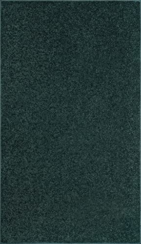 Bright House Solid Color Area Rug Forest Green – 9 x12