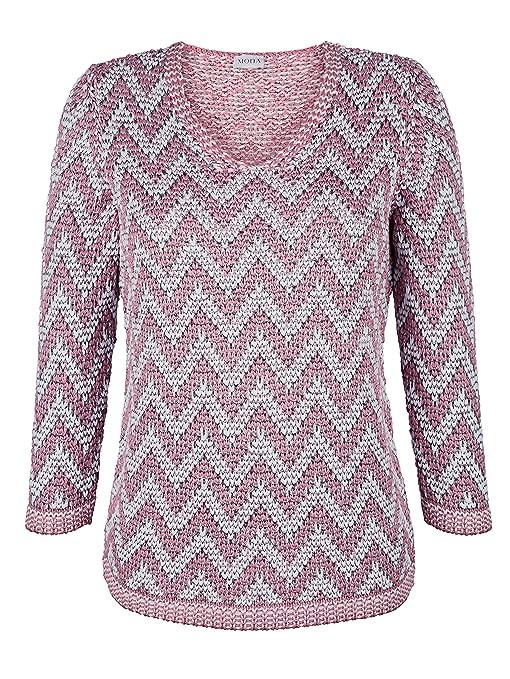 altrosa pullover mit glanzgarn für damen