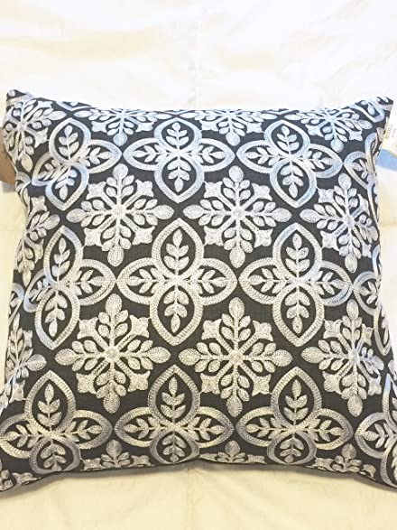Amazon Rodeo Home Embroidered Silver Snowflake On Black Throw Unique Rodeo Home Decorative Pillows