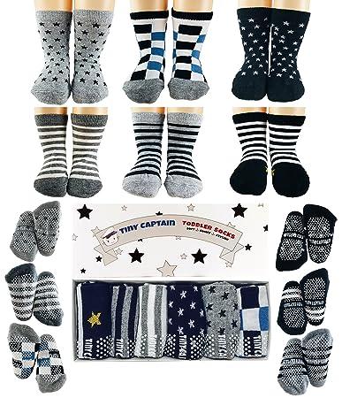 55d5fe7d6ba61 Amazon.com  Tiny Captain Toddler Boy Non Slip Socks