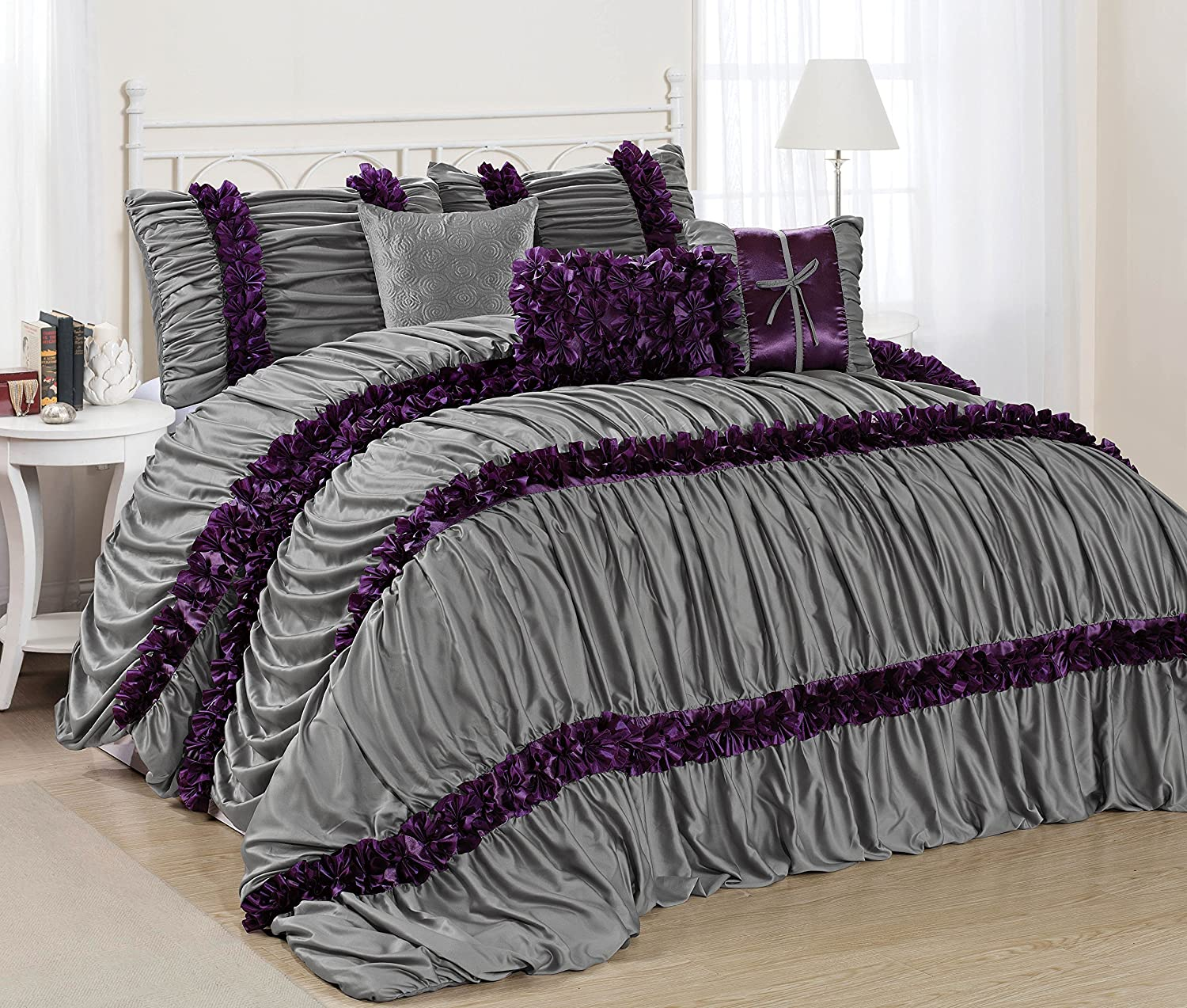 comforter gray peace set queen zamella