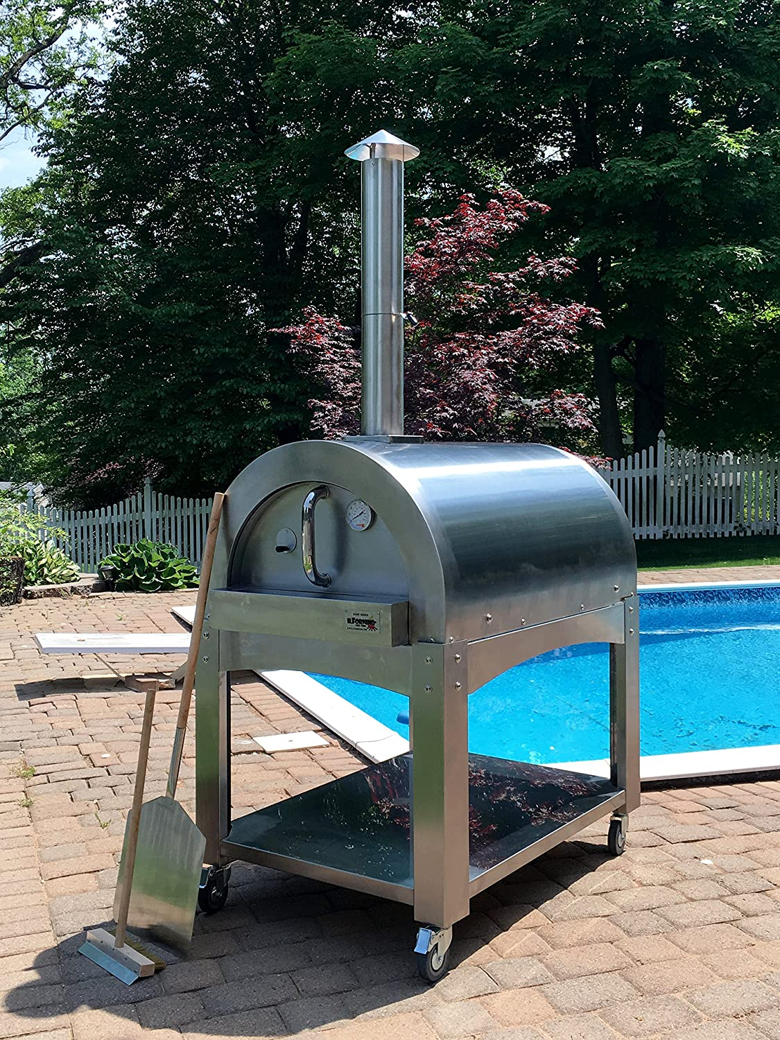 Amazon.com: IlFornino Basic Wood Fired Pizza Oven  High Grade Stainless  Steel By IlFornino, New York: Patio, Lawn U0026 Garden