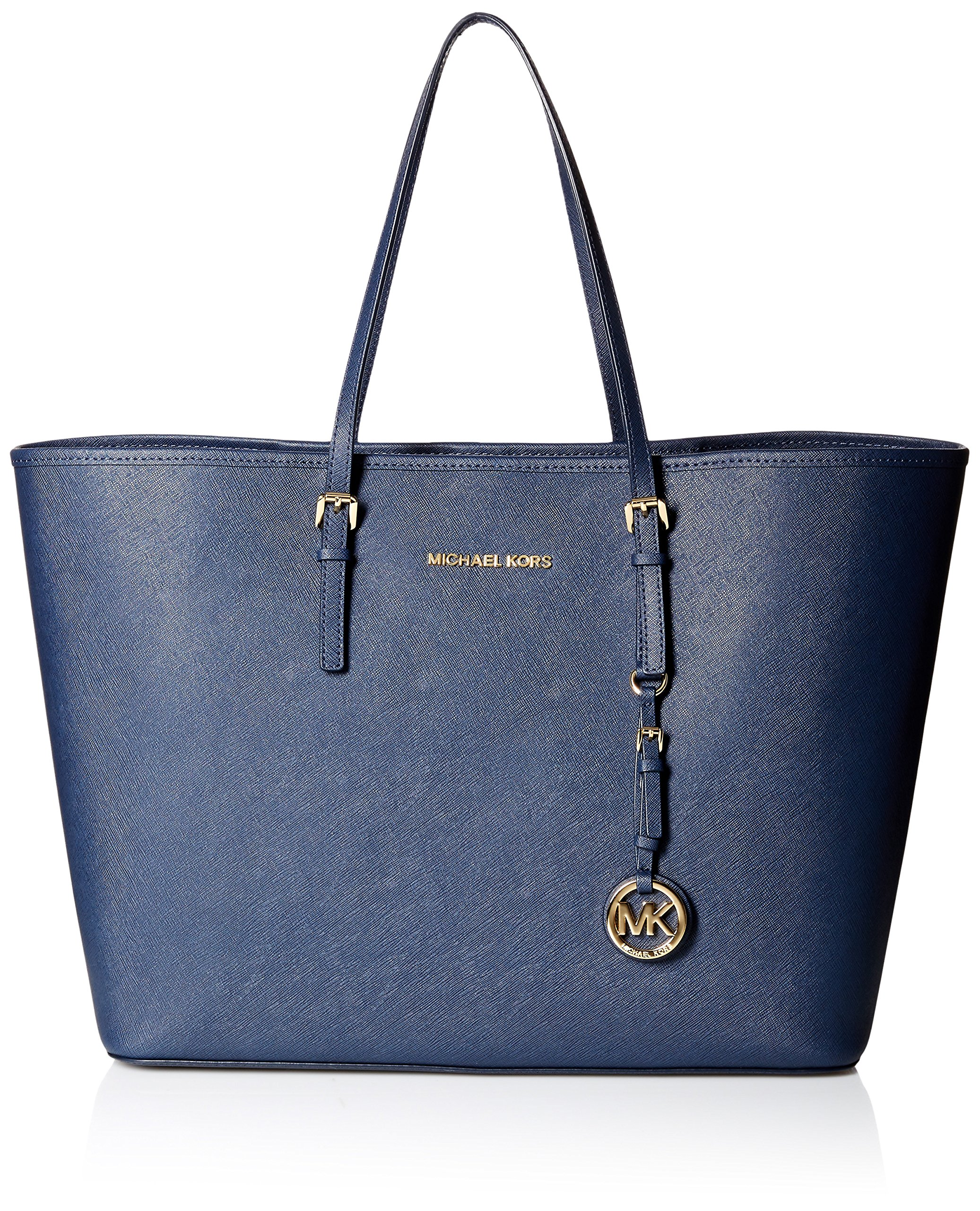 Michael Kors Jet Set Large East/West Travel Tote, Navy