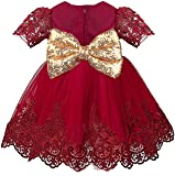 Lilax Baby Girl Newborn Lace Princess Wedding Party Dress Gown 4 Piece Deluxe Set