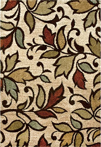 Orian Rugs Wild Weave Getty Area Rug, 3 11 x 5 5 , Bisque