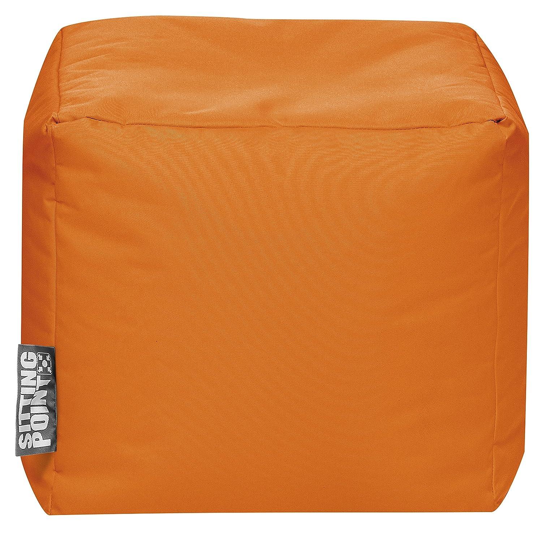 SITTING POINT S3237242 Cube Brava Pouf, Large, Orange B2C International Inc.
