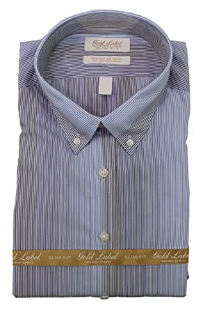43496e0a8abb Gold Label Roundtree & Yorke Iron Slim-Fit Button-Down Collar Dress ...