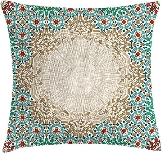 decorative boho accent unique pretty patchwork 16x16.htm amazon com ambesonne moroccan throw pillow cushion cover  ottoman  ambesonne moroccan throw pillow cushion