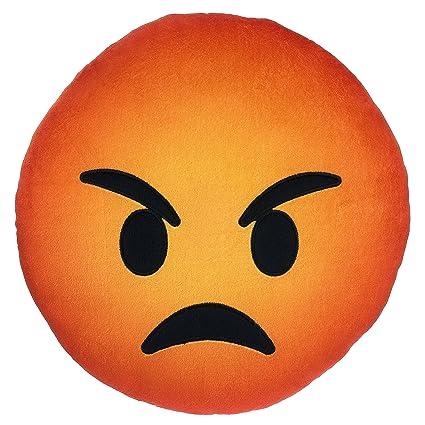 amazon com orange angry emoji pillow 9 mad guy emoticon