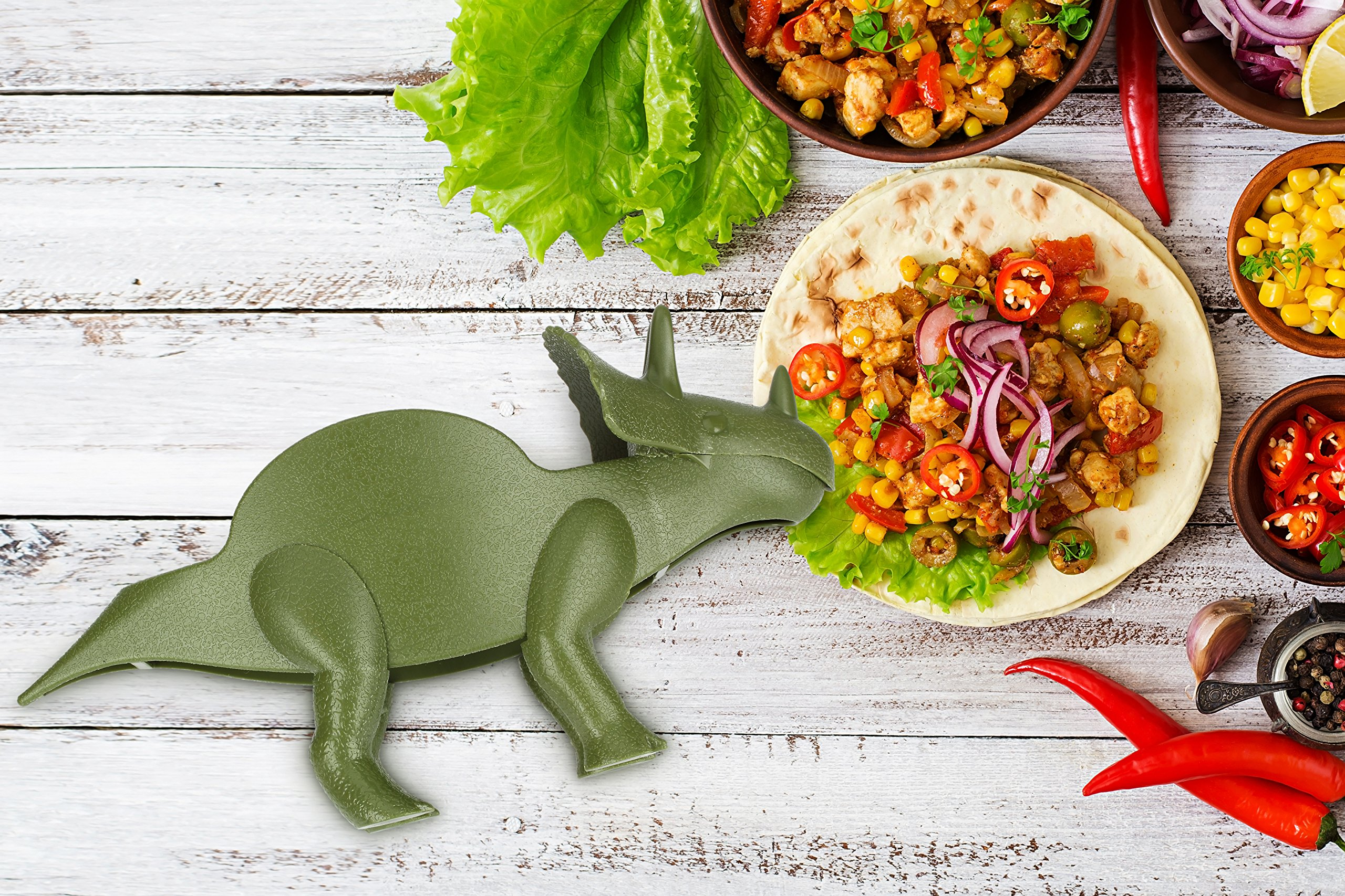 KidsFunwares TriceraTACO Taco Holder - The Ultimate Prehistoric Taco Stand for Jurassic Taco Tuesdays and Dinosaur Parties - Holds 2 Tacos - The Perfect Gift for Kids and Kidults that Love Dinosaurs by KidsFunwares (Image #14)