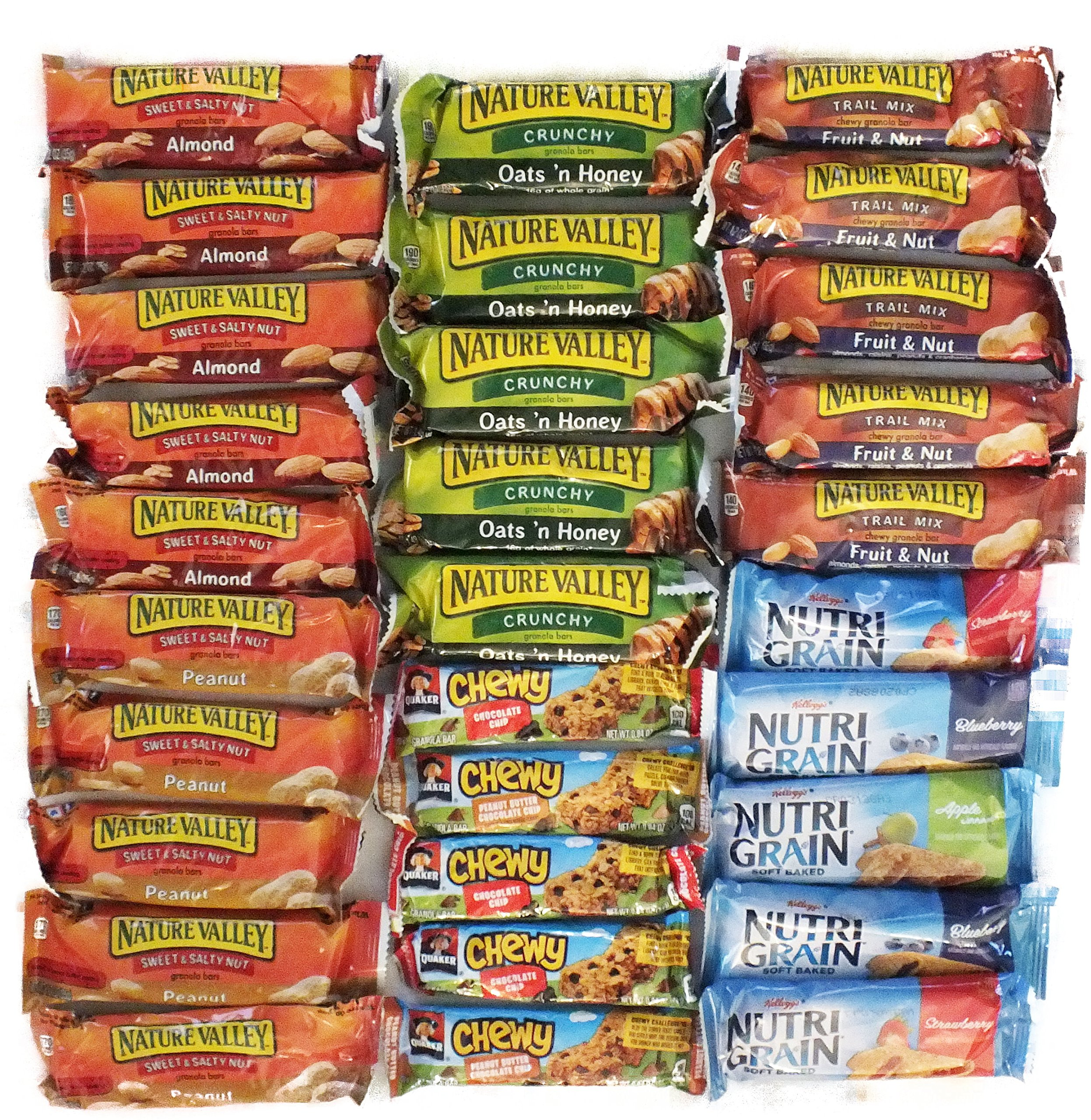 Healthy Granola Bar Variety Snack Pack Bulk Assortment (30 Count) by Bundle Bits