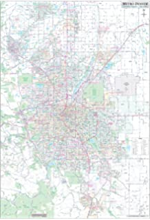 Amazon Com Zip Code Wall Map Of Denver Co Zip Code Map Laminated