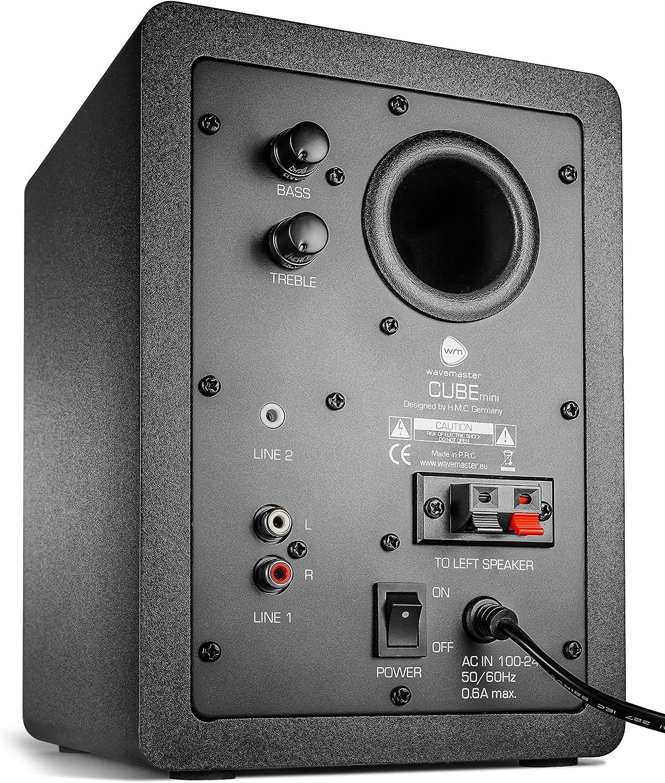 Wavemaster Cube Mini Regal Lautsprecher System 36 Watt Mit Bluetooth Streaming Aktiv Boxen Nutzung Für Tv Smartphone Tablet Schwarz 66340 Audio Hifi