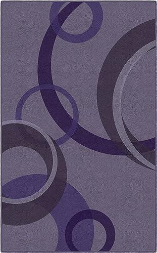 Brumlow Mills Darien Circles Purple Contemporary Geometric Area Rug 5 x 8 ,