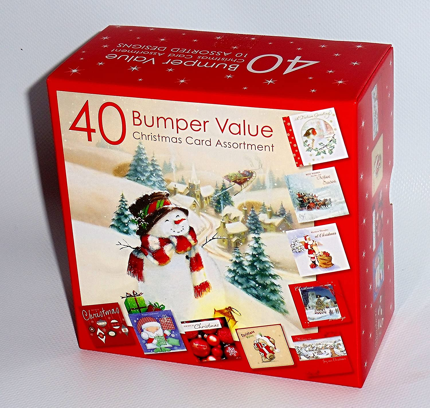 Christmas Cards Bumper Box 40 Assorted Xmas Cards 10 Designs