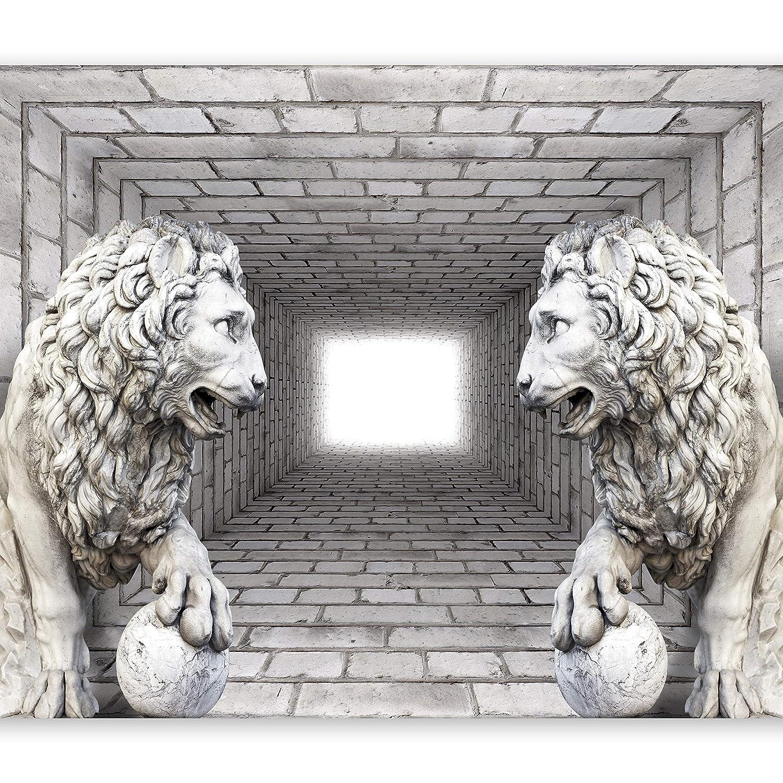 Murando - Fototapete 400x280 cm - Vlies Vlies Vlies Tapete - Moderne Wanddeko - Design Tapete - Wandtapete - Wand Dekoration - Ziegel Mauer Löwe 3D Tunnel d-A-0036-a-b B014WCILGQ Wandtattoos & Wandbilder e5220c