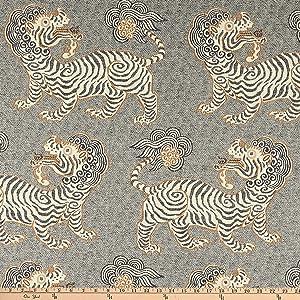 P Kaufmann Kathmandu Jacquard Onyx Fabric by the Yard