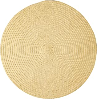 product image for Spring Meadow Round Rug, 4-Feet, Dandelion