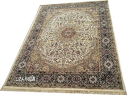 6cd19fe840b20 Kashmiri Traditional New Silk Carpet Persian Design Ivory Colour (2×6 Feet)  Awesome