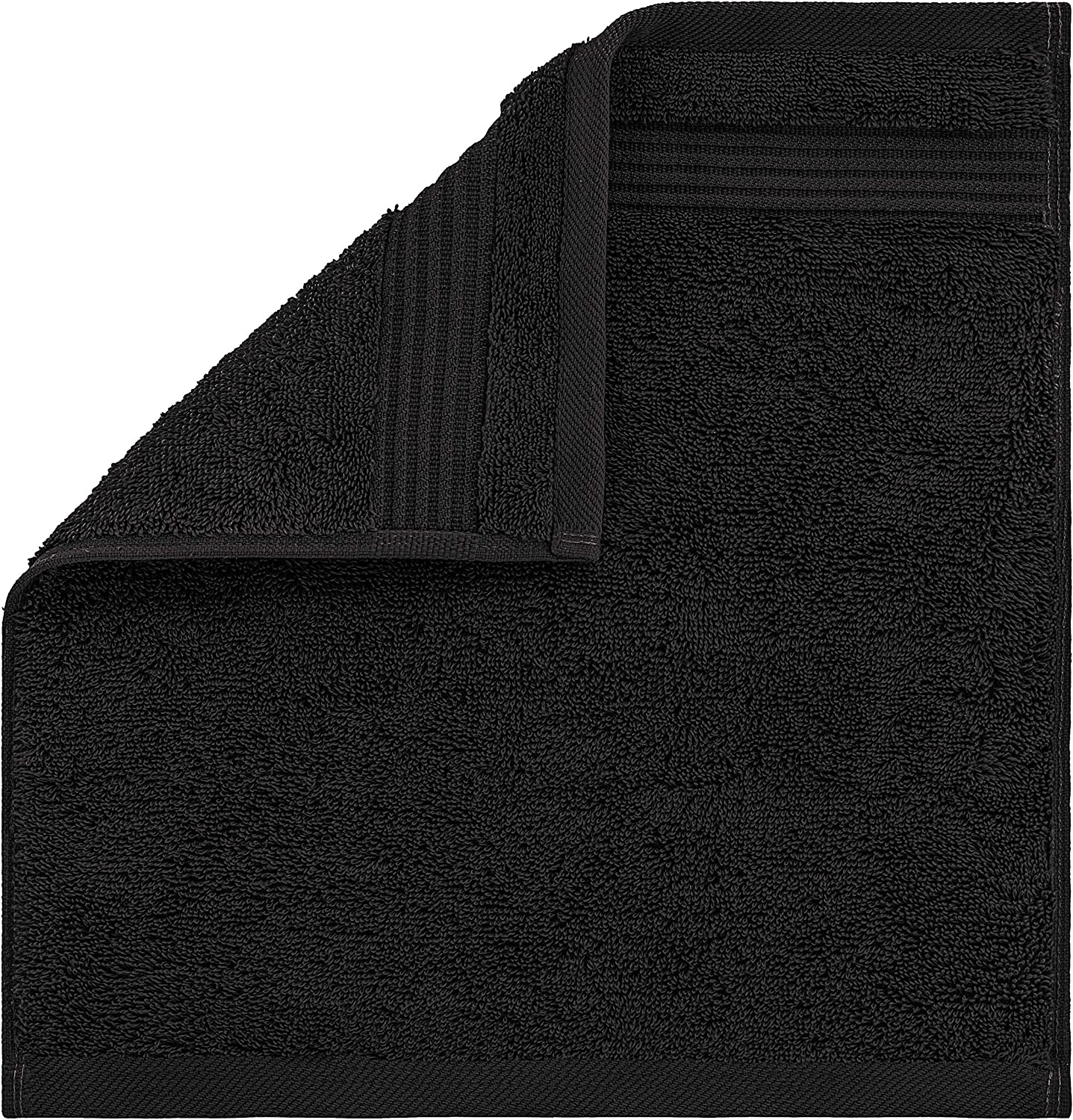 Facial Towelettes by United Home Textile Luxury Ring Spun Cotton Washcloths for Easy Care Extra Soft and Absorbent 4 Pack Washcloth Set, Coal Black Fingertip Towels