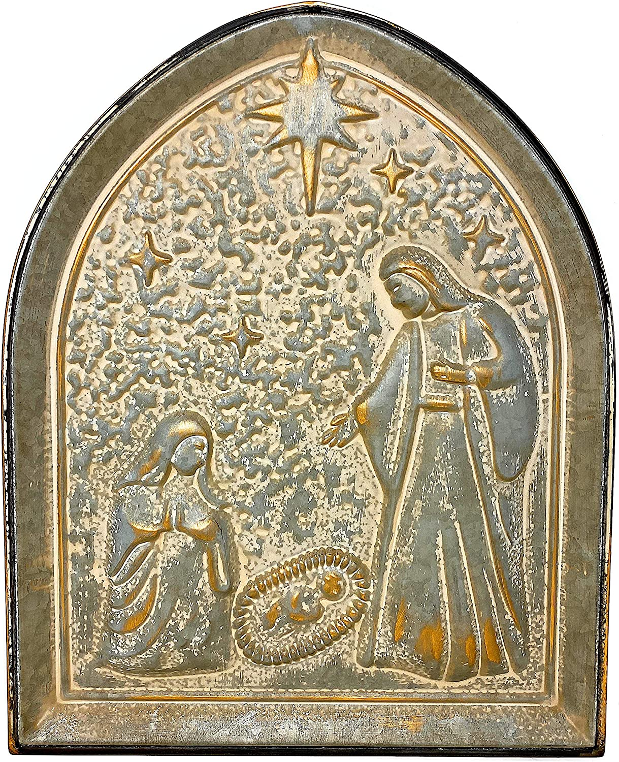 """STC Nativity Christmas Holly Family Wall Rustic Metal Decor Metal Indoor Outdoor 18"""" x 15"""""""