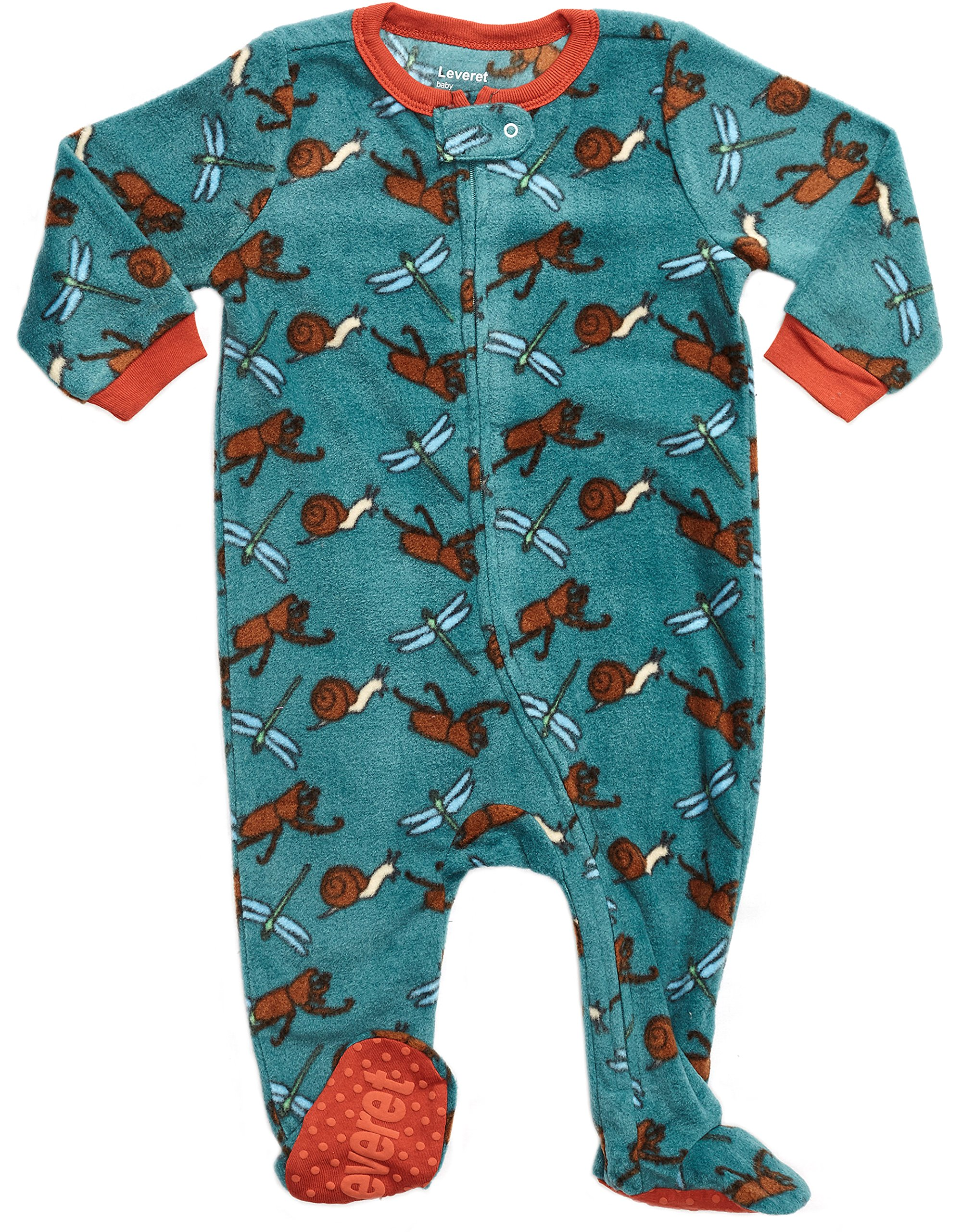 0d6a12119 Leveret Fleece Baby Boys Footed Pajamas Sleeper Kids   Toddler ...