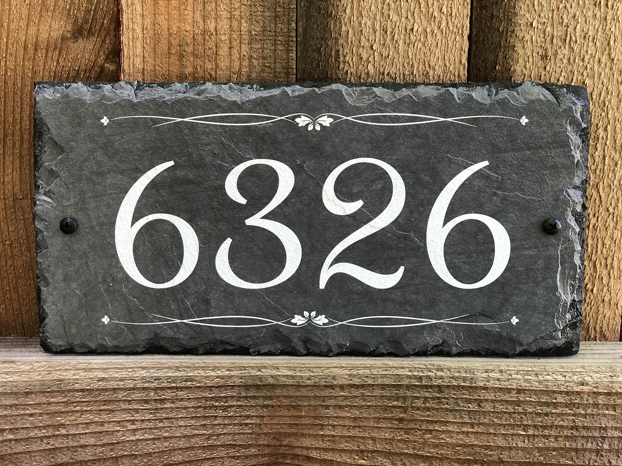 Sassy Squirrel Handcrafted and Customizable Slate Home Address Number Plaque