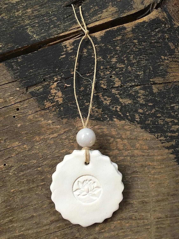 Amazon.com: Lotus Flower Christmas Ornament-White Jade Bead ...