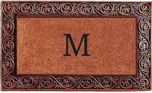 Home More 10003BRNZM Prestige Bronze Monogram Doormat Letter M