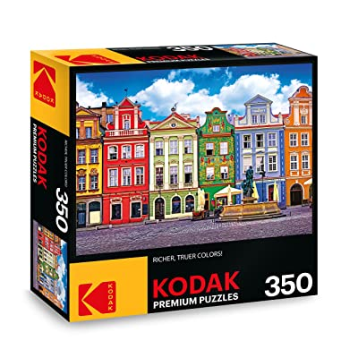 KODAK PREMIUM PUZZLES Colorful Buildings Ponzan Poland Jigsaw Puzzle: Toys & Games