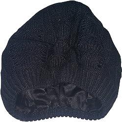 0730ba35fee Always Eleven Satin Lined Knit Beret Hat