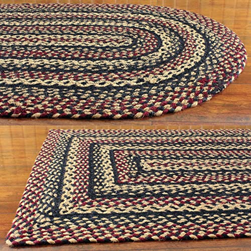 IHF Blackberry Braided Rectangle Area Rug Accent Rugs Jute 20 X30