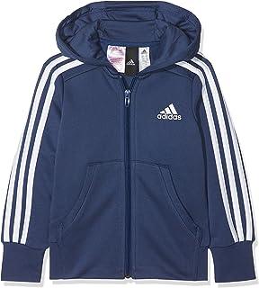 a8bb77eb3bf8 adidas Children s Essentials 3-stripes Hooded Jacket Kids  Amazon.co ...