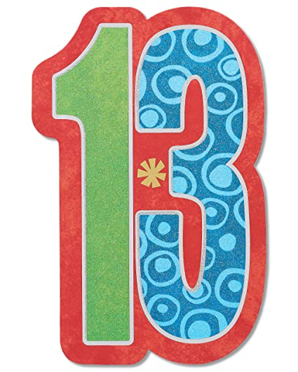 Image Unavailable Not Available For Color American Greetings 13th Birthday Card