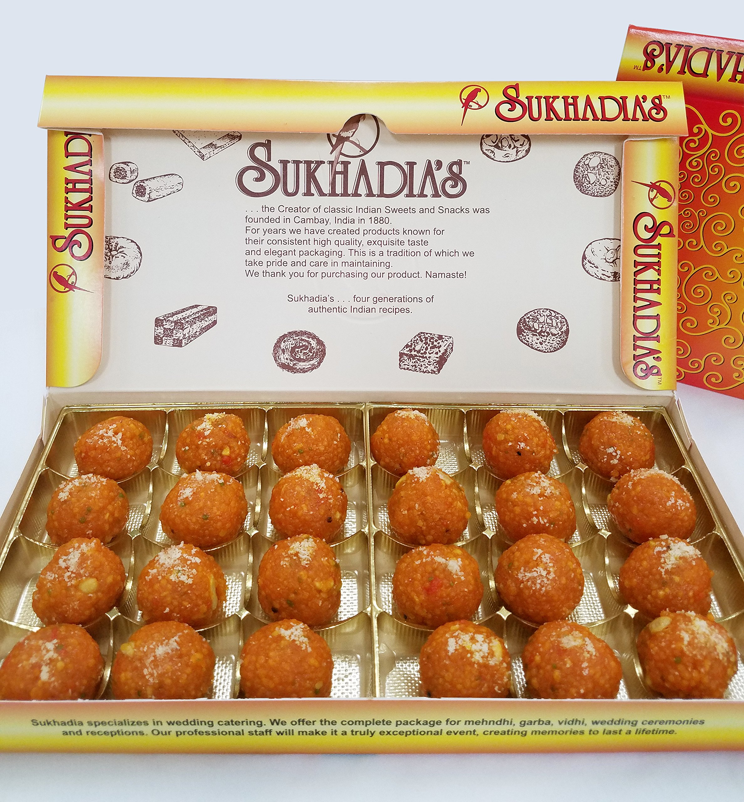 Sukhadia's Motichoor Ladoo Indian Sweet, 2LB Box (32oz) by Sukhadia's