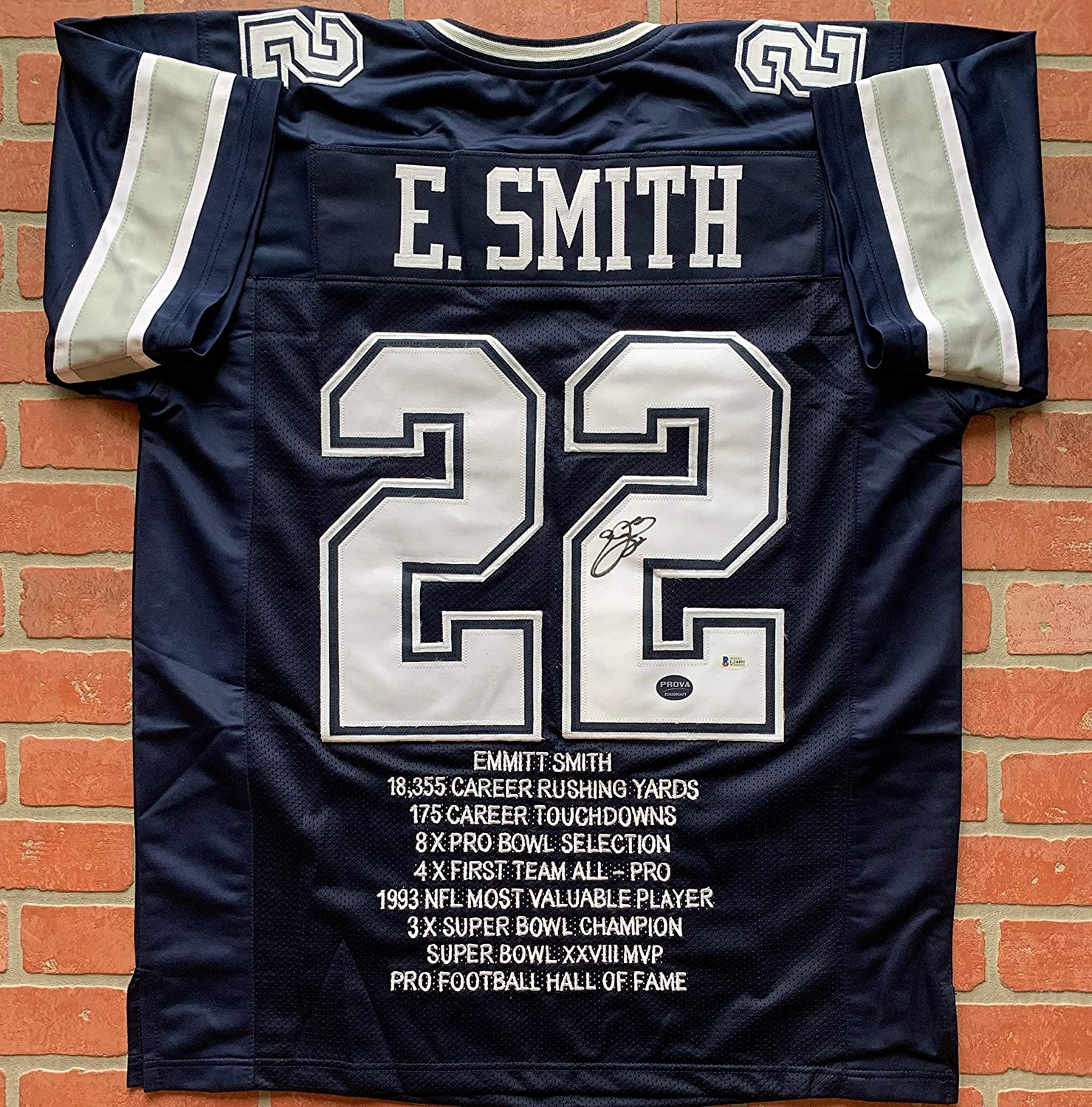 new concept 2e4ef 4225b Emmitt Smith autographed signed jersey NFL Dallas Cowboys ...