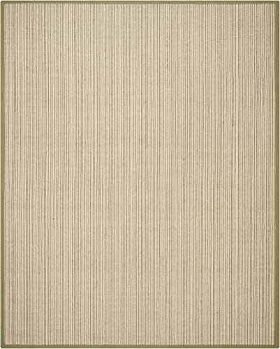 "Safavieh Natural Fiber Collection NF442A Martinique Stripe Green Sisal Area Rug 7'6"" x 9'6"""