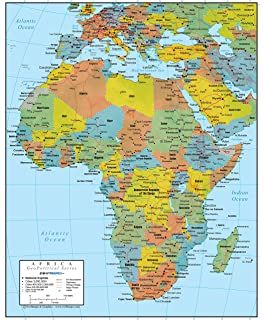 Amazoncom Poster Service Africa Map Poster 24Inch by 36Inch