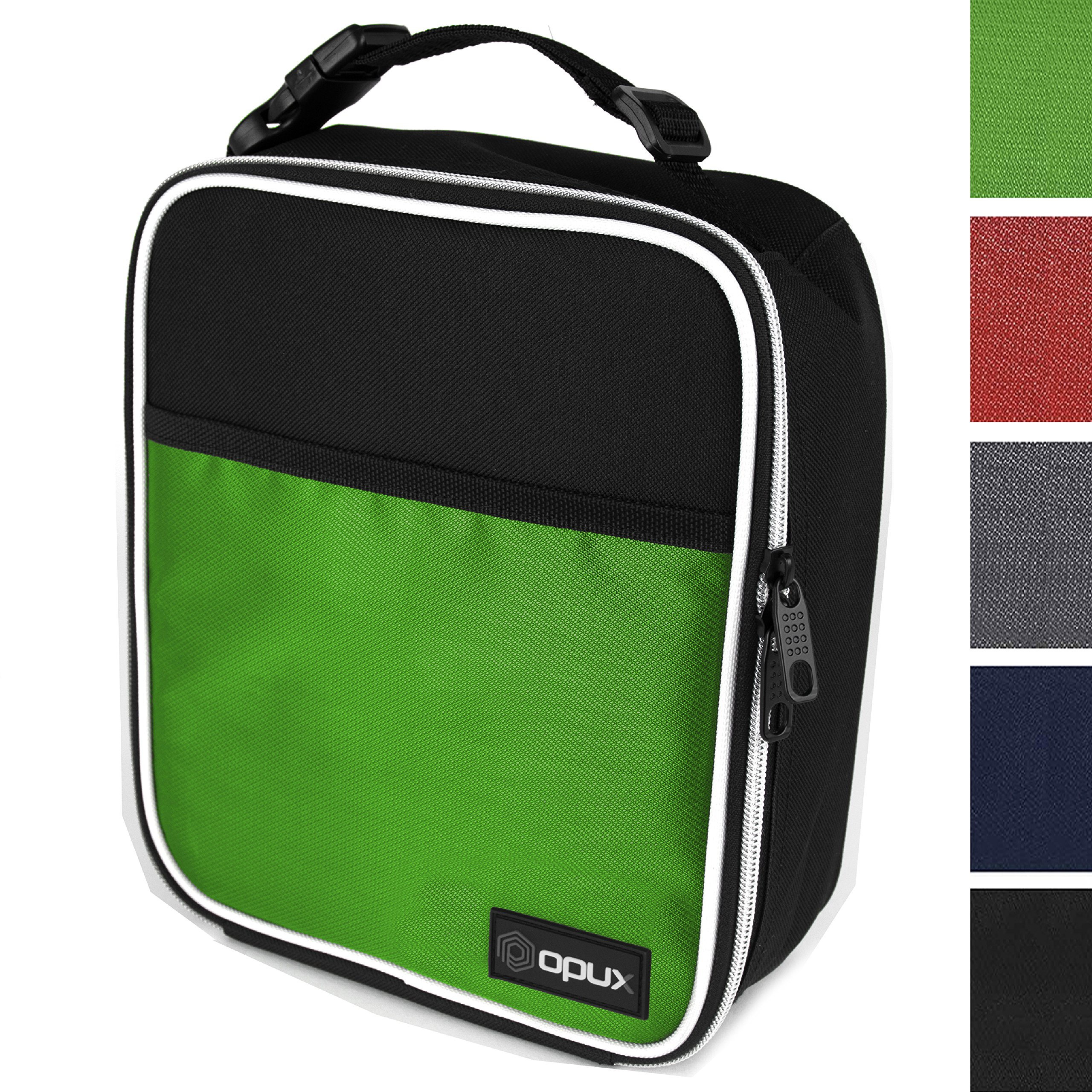 OPUX Premium Thermal Insulated Mini Lunch Bag | School Lunch Box For Boys, Girls, Kids, Adults | Soft Leakproof Liner | Compact Lunch Pail for Office (Green)