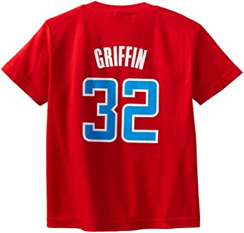 Blake Griffin Los Angeles Clippers Youth Niño Adidas Red NBA Player T-shirt camisa