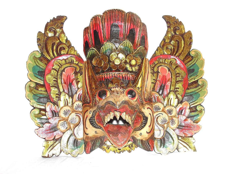 Holzmaske Garuda braun Wandmaske Wandskulptur
