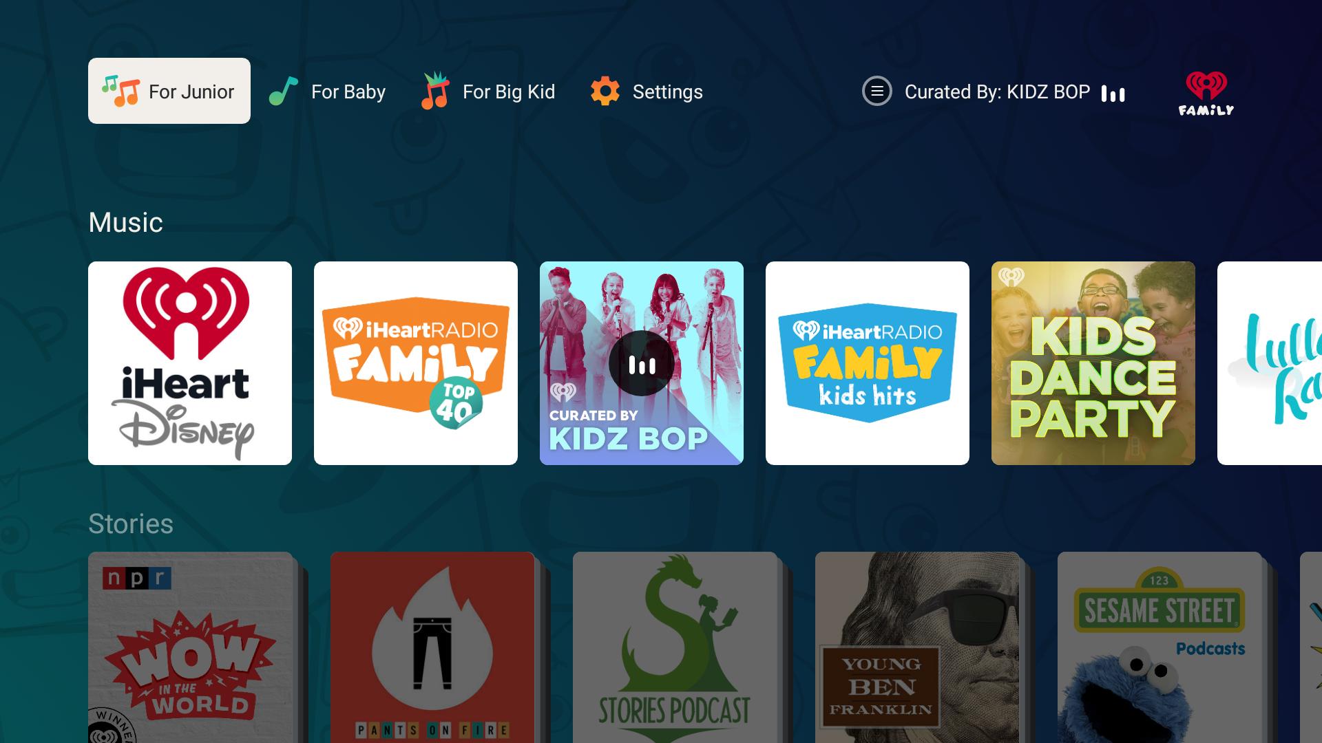 iHeartRadio Family TV