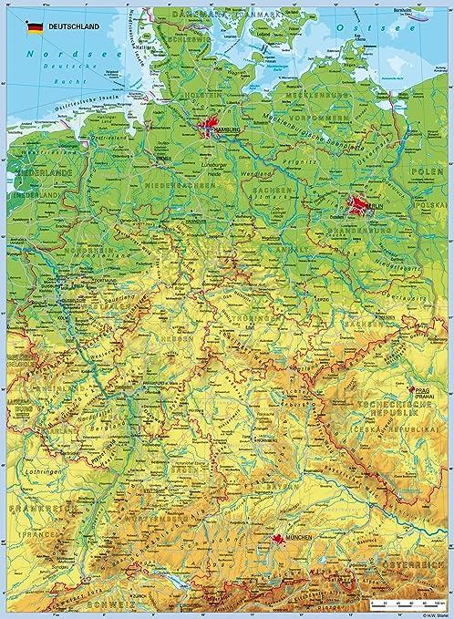 Ravensburger 10774 Deutschlandkarte Geografisch 100 Teile Xxl