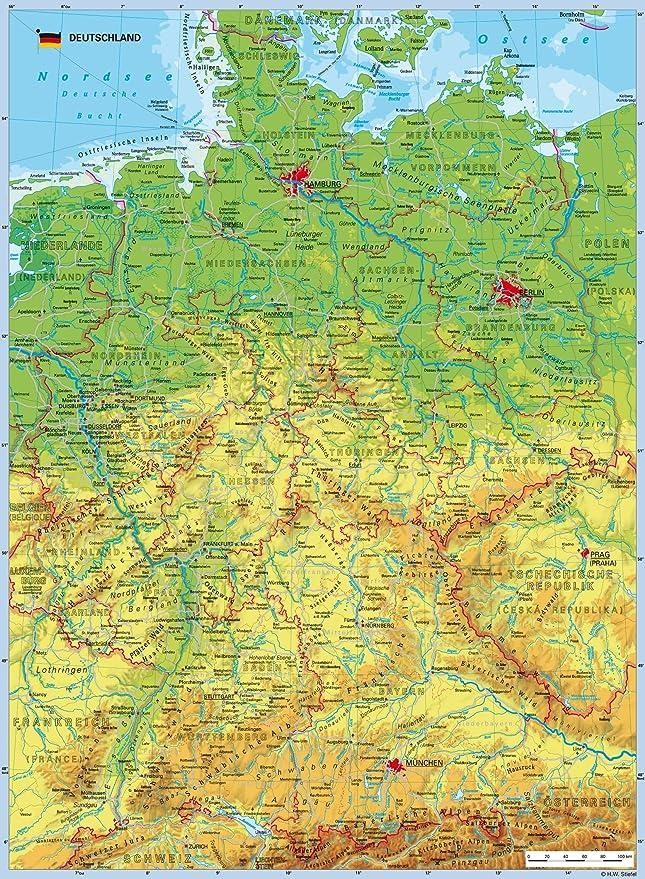 Cartina Geografica Della Germania.Ravensburger 10774 Grande Puzzle Della Carta Geografica