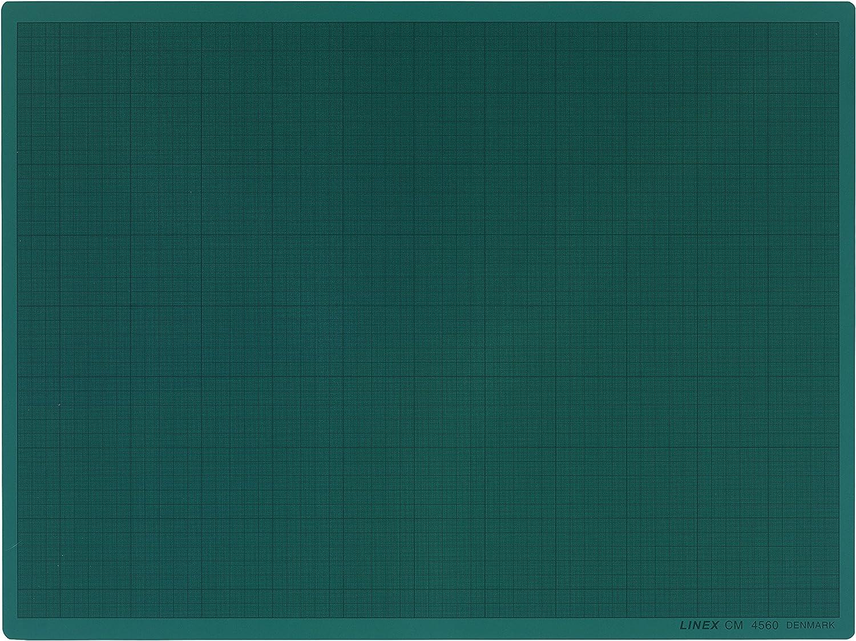 Schneideunterlage DIN A1 60 x 90 cm gr/ün selbstschlie/ßend Linex 100411034 CM6090 LINEX 100411034 10 x Schneidematte selbstheilend mit mm-Raster Gr/ün
