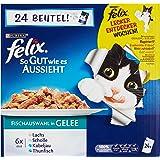 Felix Katzennassfutter So gut wie es aussieht Fisch Mix 100 g, 24er Pack (24 x 100 g)