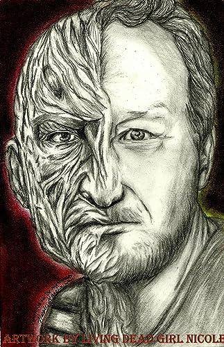 Amazoncom Portrait Drawing Art Printsweet Dreams Freddy