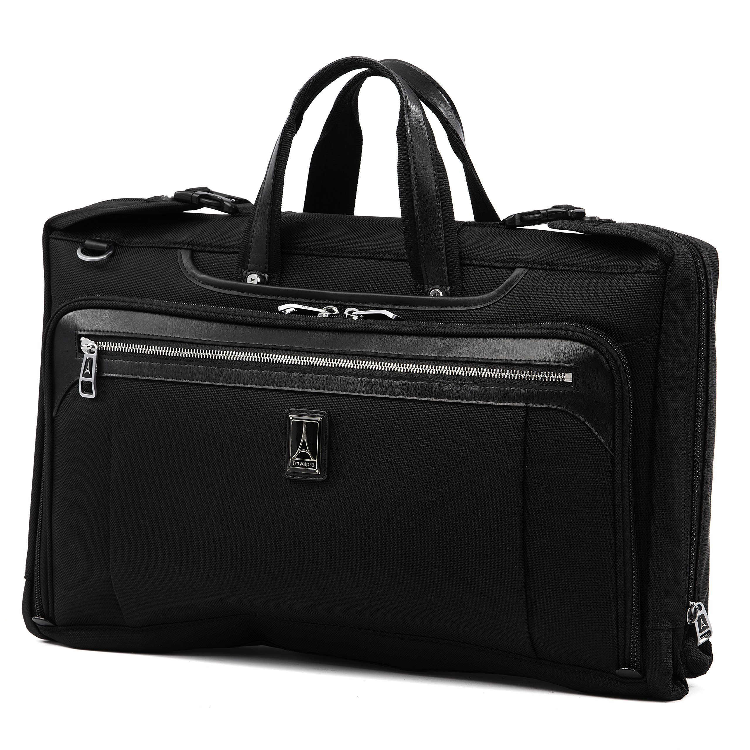 Travelpro Luggage Platinum Elite 20'' Carry-on Tri-Fold Garment Bag, Shadow Black